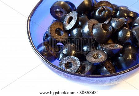 Black Olive Slices Closeup