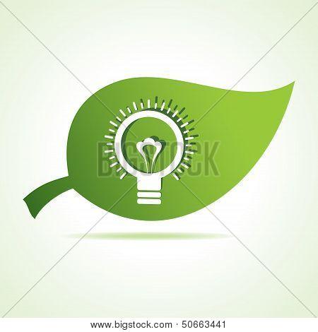 bulb icon at leaf
