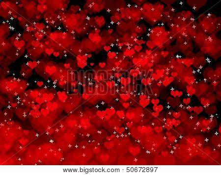 Dark Background With Hearts