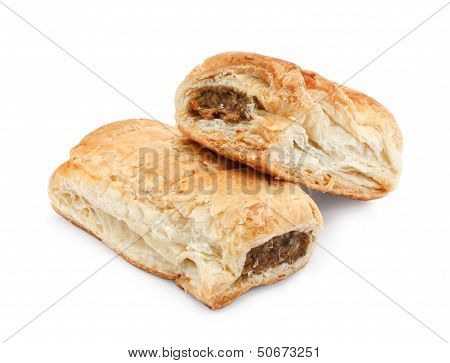 Isolated Sausage Rolls