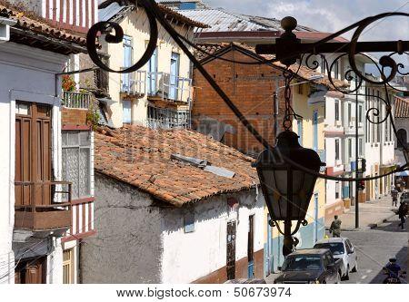Old Conquistador's Town Cuenca In Ecuador