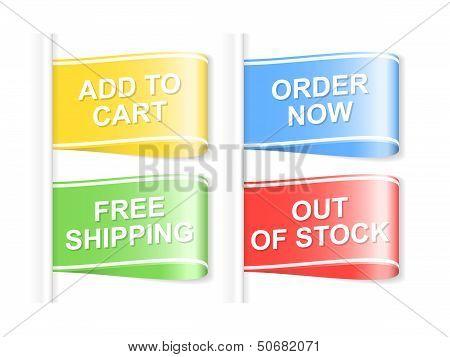 Set Of Shopping Labels. Vector Illustration