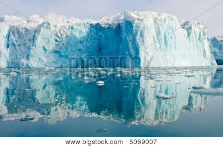 Reflecting Blue Glacier