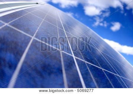 Solar Panels With Sky