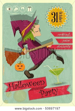 Halloween Party With Witch