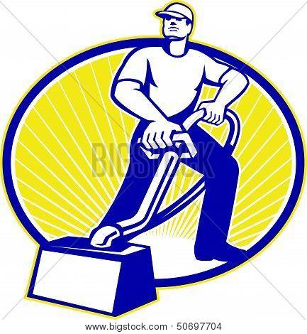Carpet Cleaner Vacuum Cleaning Machine Retro