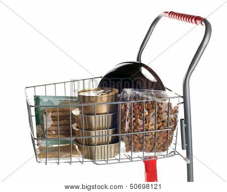 Sshopping Cart Full Of Dog Food