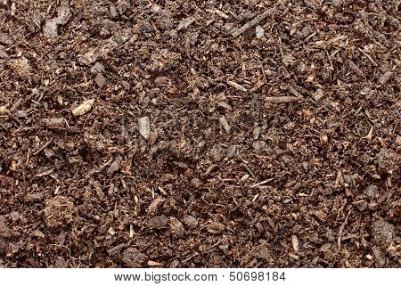 Compost soil or dirt abstract background texture poster