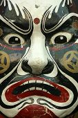 Close up Shot of the tradition Chinese Opera Mask poster