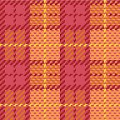Seamless vector plaid pattern made of squares in orange and pink. poster