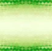 Abstract Green Triangle Geometrical Background, Vector Illustration poster