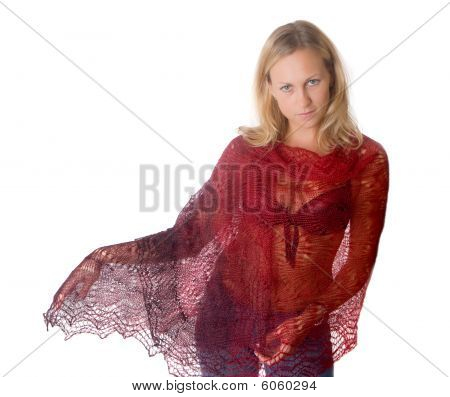 Girl In A Red Tippet