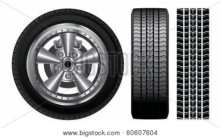 Wheel - Tire And Alloy Rim