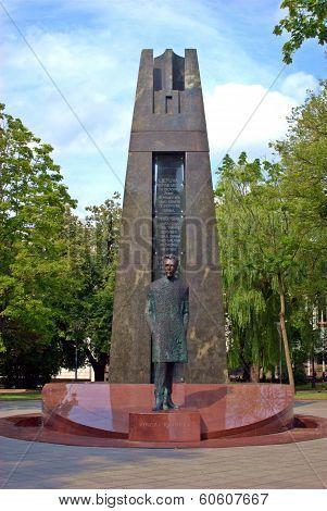 Vilnius City Sculpture Vincas Kudirka. Lithuania