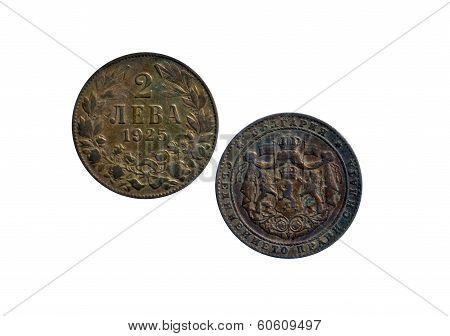 2 Bulgarian levs coin 1925