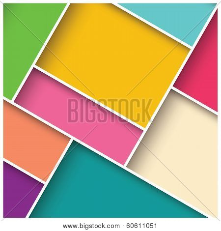 Abstract 3d square background, colorful tiles, geometric, vector illustration