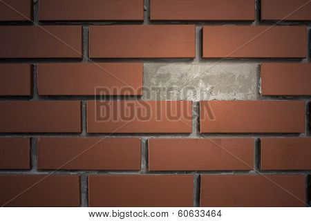 Brick Wall With Break Space