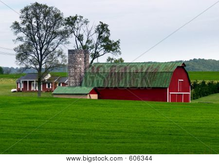 Farm Red And Green