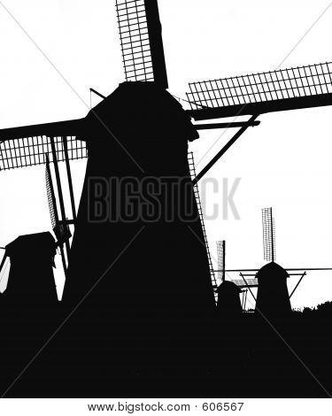 Dutch Windmills In Kinderdijk 5