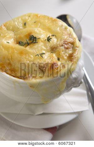 Brown onion soup