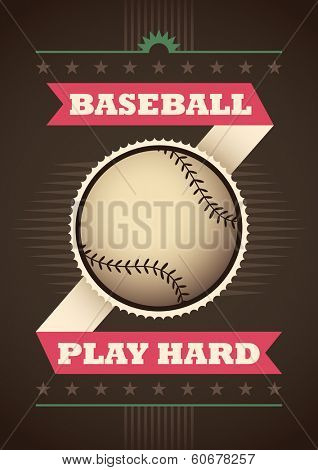 Modern baseball poster. Vector illustration.