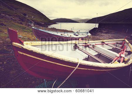 boat on Faroe island