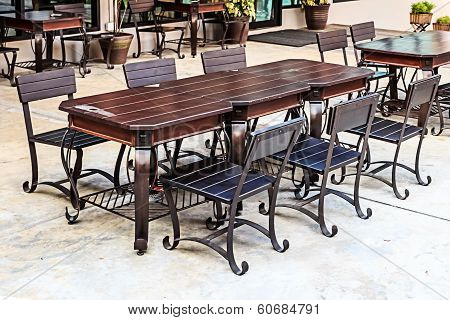 Dining Table And Chairs in Outdoors