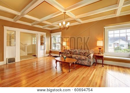 Old Living Room With An Antique Furniture
