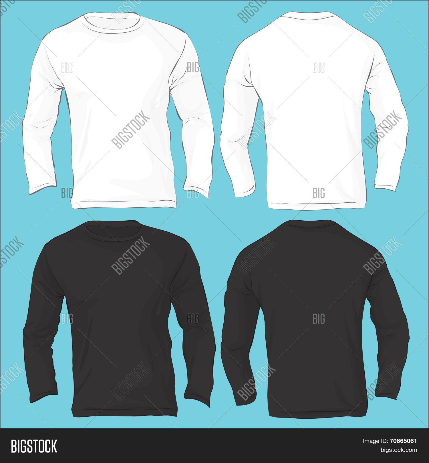 Men\'s Long Sleeved T- Vector & Photo (Free Trial) | Bigstock