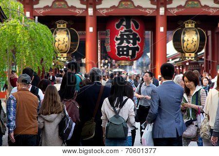 Tokyo crowds at Senso-ji Temple in Asakusa,Japan