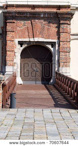 Castle gate with bridge