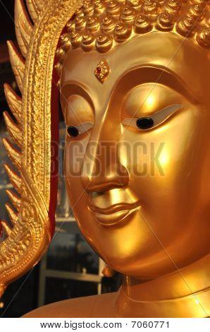 Buddha Face Aura Brass