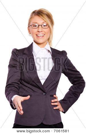 Businesswoman Greeting