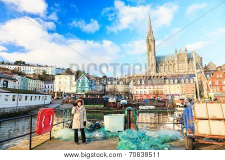 Cobh, Ireland - November 26 : Harbour And Town On November 26, 2012 In Cobh Ireland