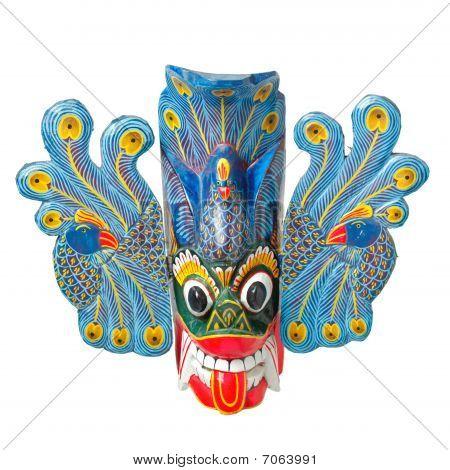 Traditinal Sri Lankan Mask Isolated