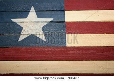Bandera de madera americana