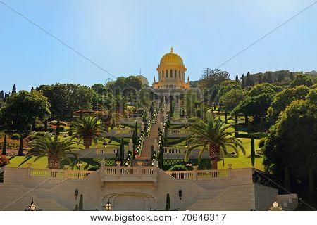 Shrine of Bab and its Gardens in Haifa Israel