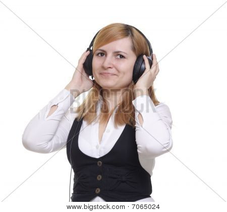The Smile Girl In Headphones