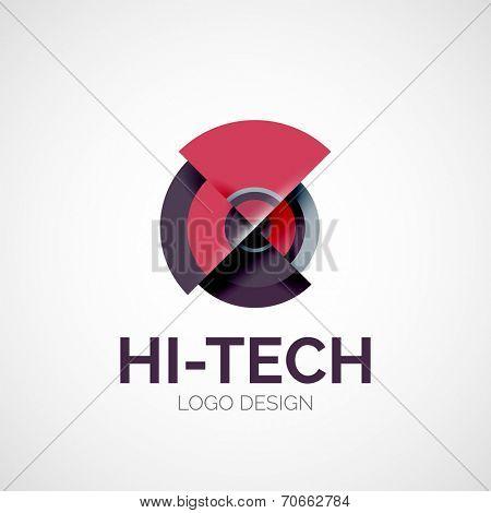 abstract company logo design, business symbol concept, modern line design