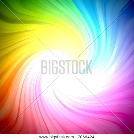 Sparkling rainbow colors light burst