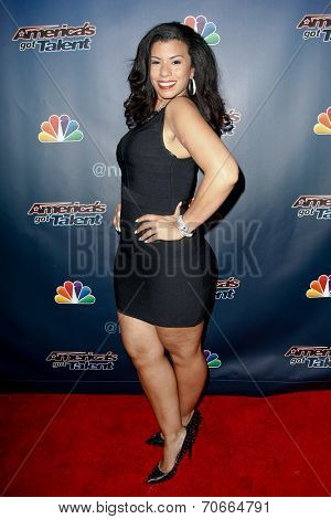 NEW YORK-AUG 13: Singer Kelli Glover attends the backstage post-show red carpet for NBC's 'America's Got Talent' Season 9 at Radio City Music Hall on August 13, 2014 in New York City.