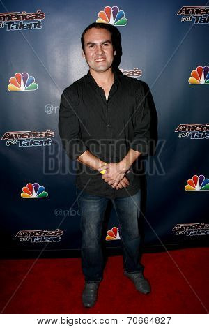 NEW YORK-AUG 13: Jonatan Riquelme attends the backstage post-show red carpet for NBC's 'America's Got Talent' Season 9 at Radio City Music Hall on August 13, 2014 in New York City.