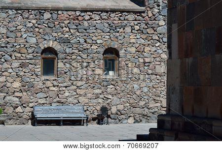 The Church Wall In Khor Virap