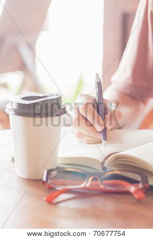 Woman Making Some Important Notes