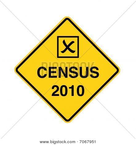 Census 2010 - Road Sign