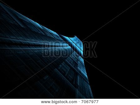 Abstract Blue Runway Stretching