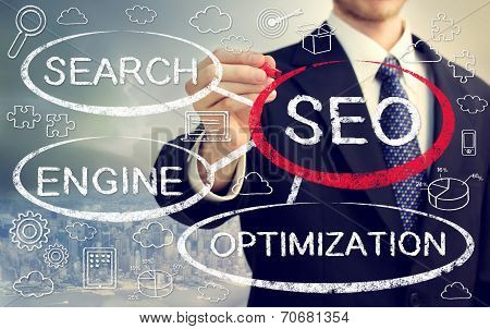 Businessman With Seo Concept