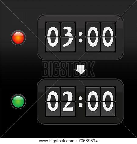 Standard time digital dial clock face