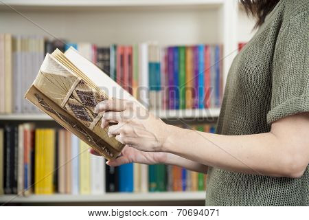 Reading Book At a Library