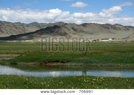 Small Town In Mongolia